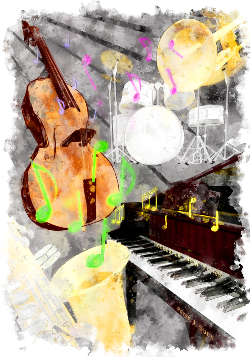 Jazz Quintet - Artwork for show during Rochester Jazz Fest