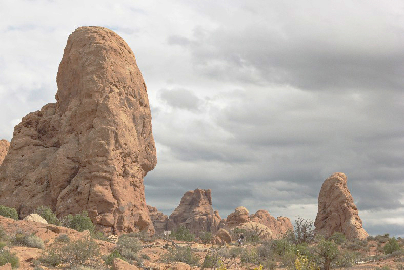 Arches - Rock Formations & Clouds